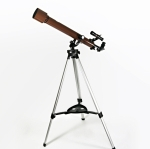 History of the changes to a refracting telescope